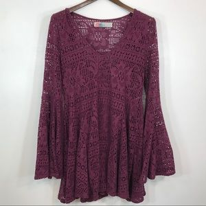 Free people beach crochet cover up